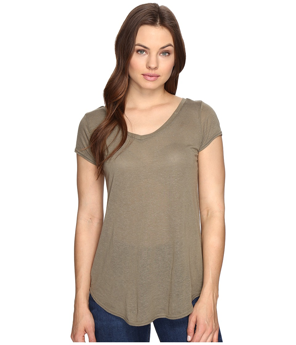 Obey - Lou V-Neck Tee (Olive) Women's T Shirt