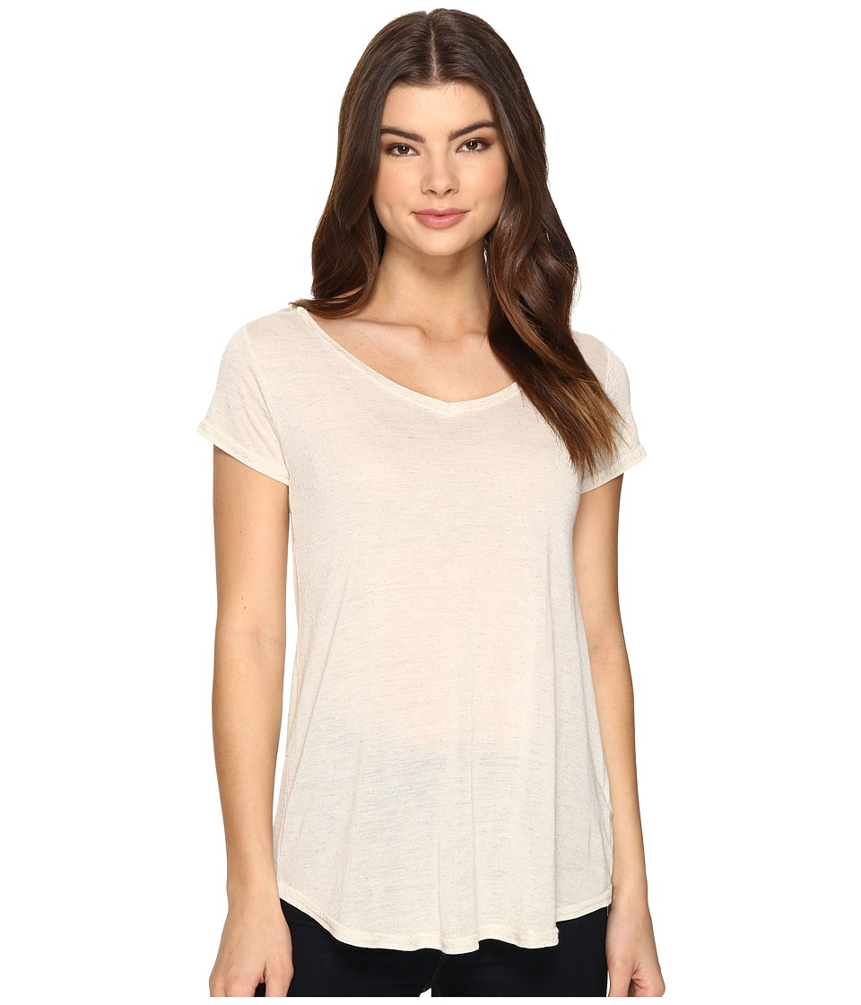 Obey - Lou V-Neck Tee (Cobblestone) Women's T Shirt