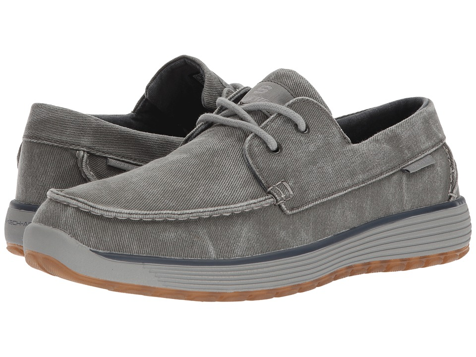 SKECHERS Classic Fit Venick Romeno (Gray) Men