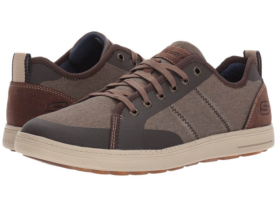 SKECHERS - Classic Fit Droven (Brown) Men's Lace up casual Shoes
