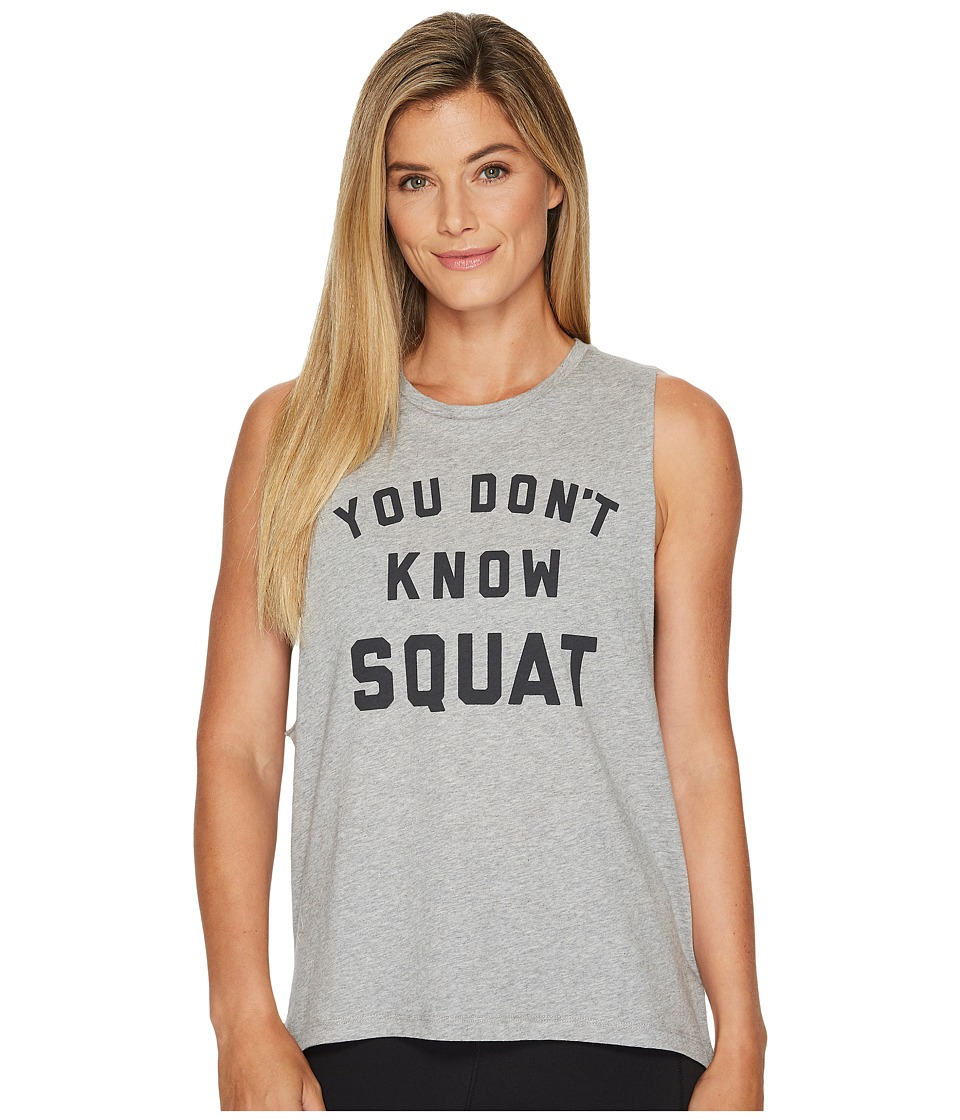 Reebok - You Don't Know Squat Muscle Tank Top (Medium Grey Heather) Women's Clothing