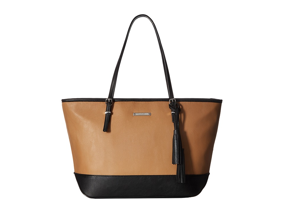 Nine West - It Girl Tote (Dark Camel/Black) Tote Handbags