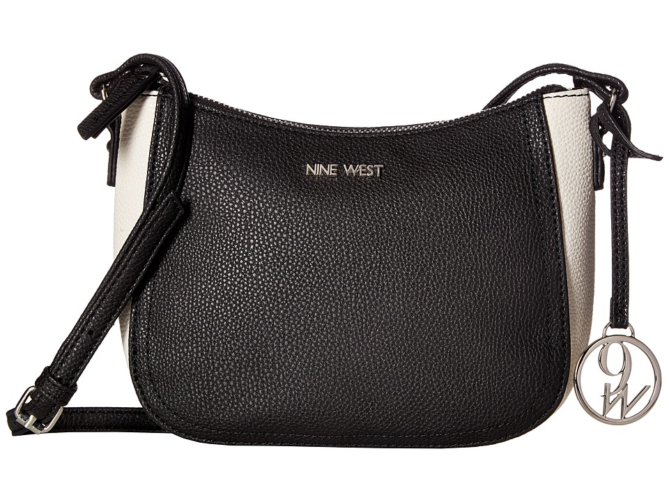 Nine West - Cross Pop (Black/Chalk/Black) Handbags