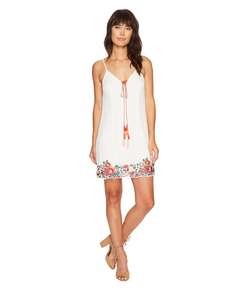Bishop + Young - Embroidered Shift (White) Women's Dress