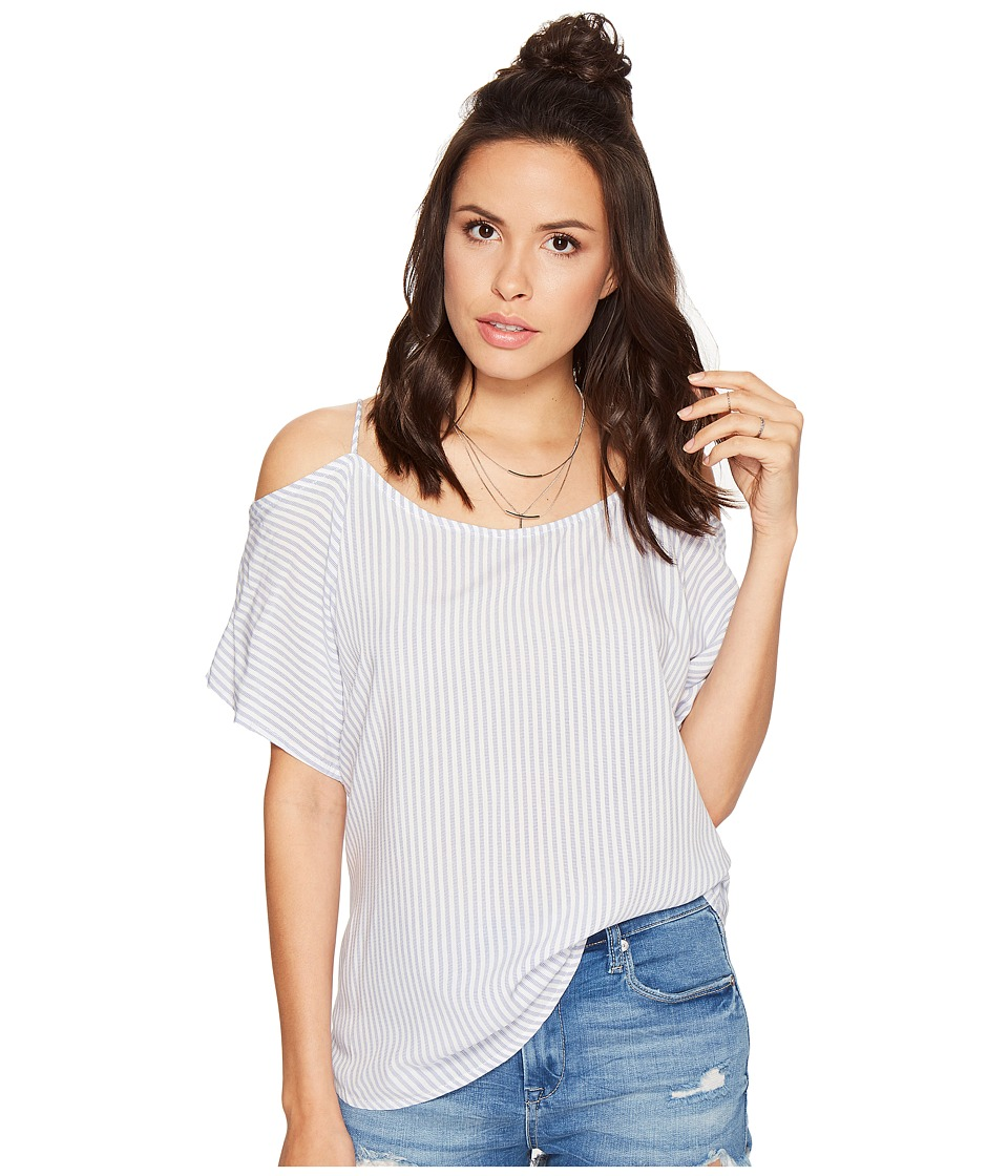 Bishop + Young - Kate Cold Shoulder (Blue/White Stripe) Women's Clothing