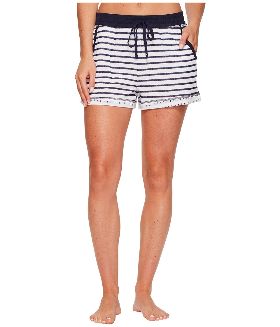 Jane & Bleecker - Double Faced Knit Shorts (Ink/White City Stripe) Women's Pajama