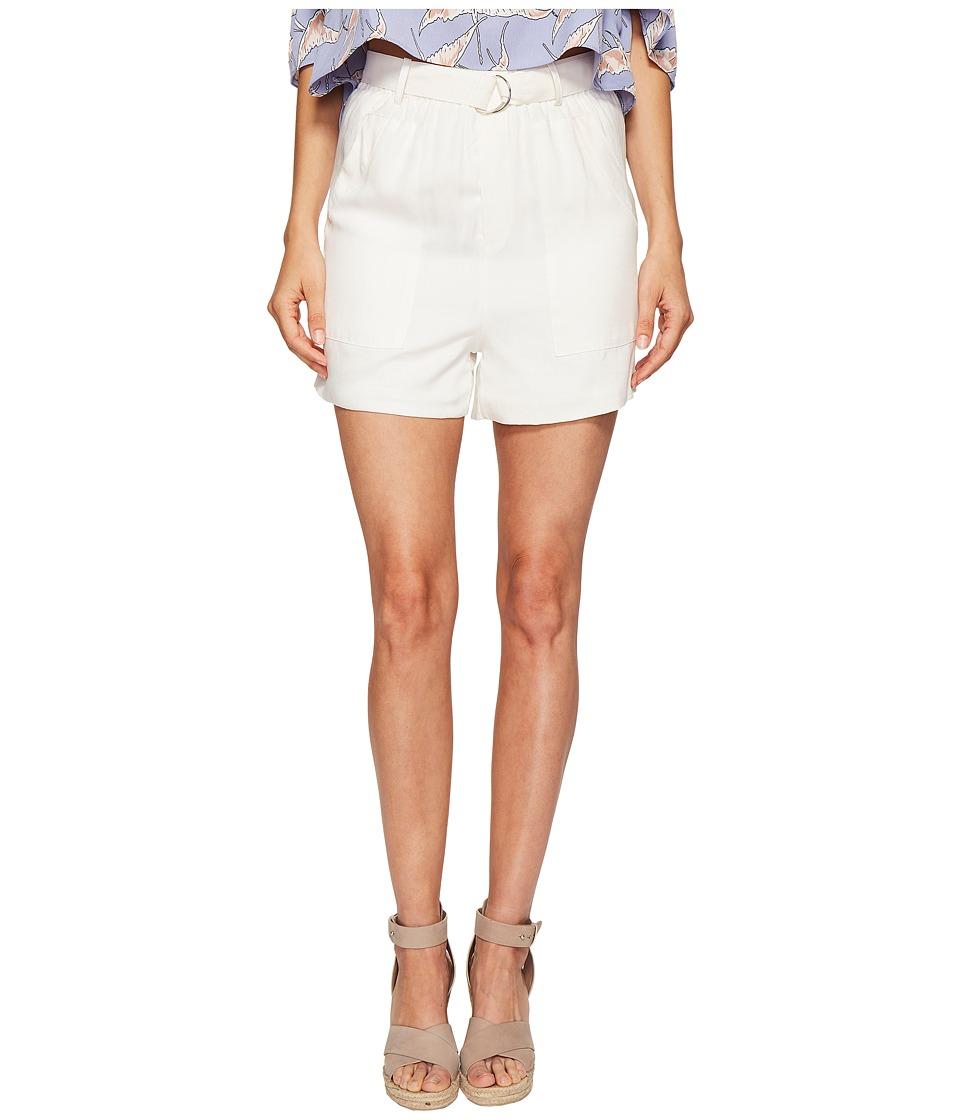 Bishop + Young - Paperbag Shorts (White) Women's Shorts