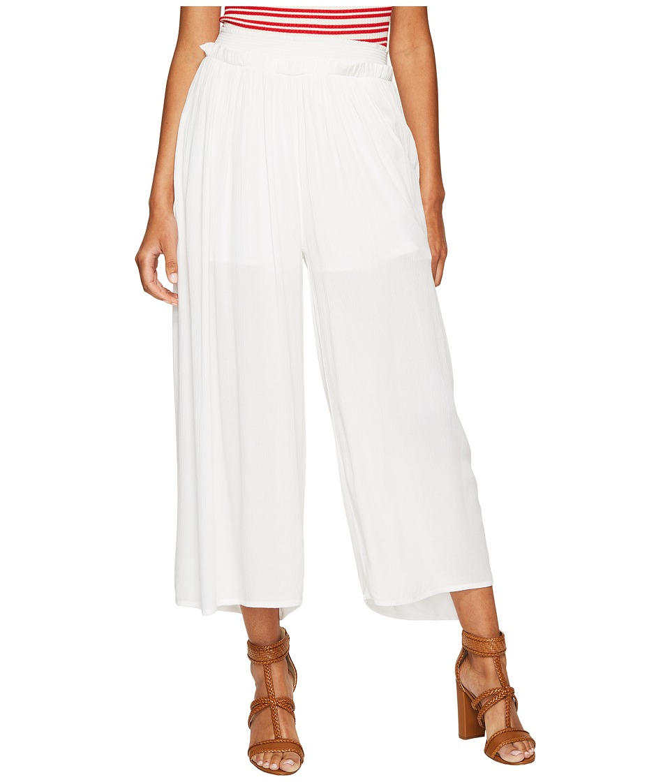 Bishop + Young - Flowy Pull Up Pants (White) Women's Casual Pants