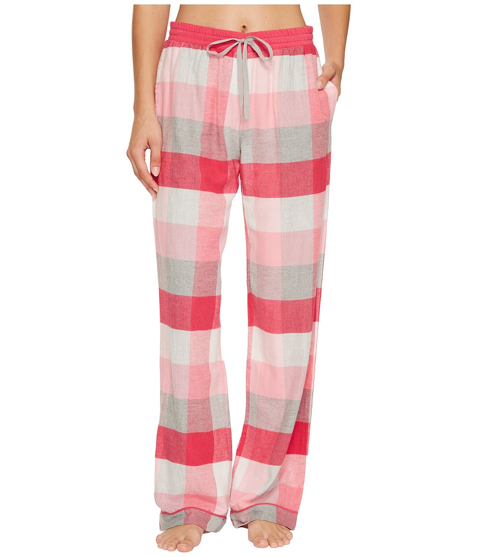 Jane & Bleecker - Flannel Plaid Pajama Pants (Desert Rose Plaid) Women's Pajama