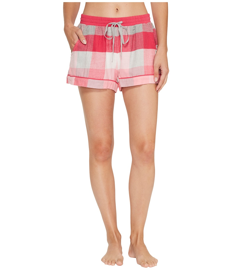 Jane & Bleecker - Flannel Plaid Pajama Shorts (Desert Rose Plaid) Women's Pajama