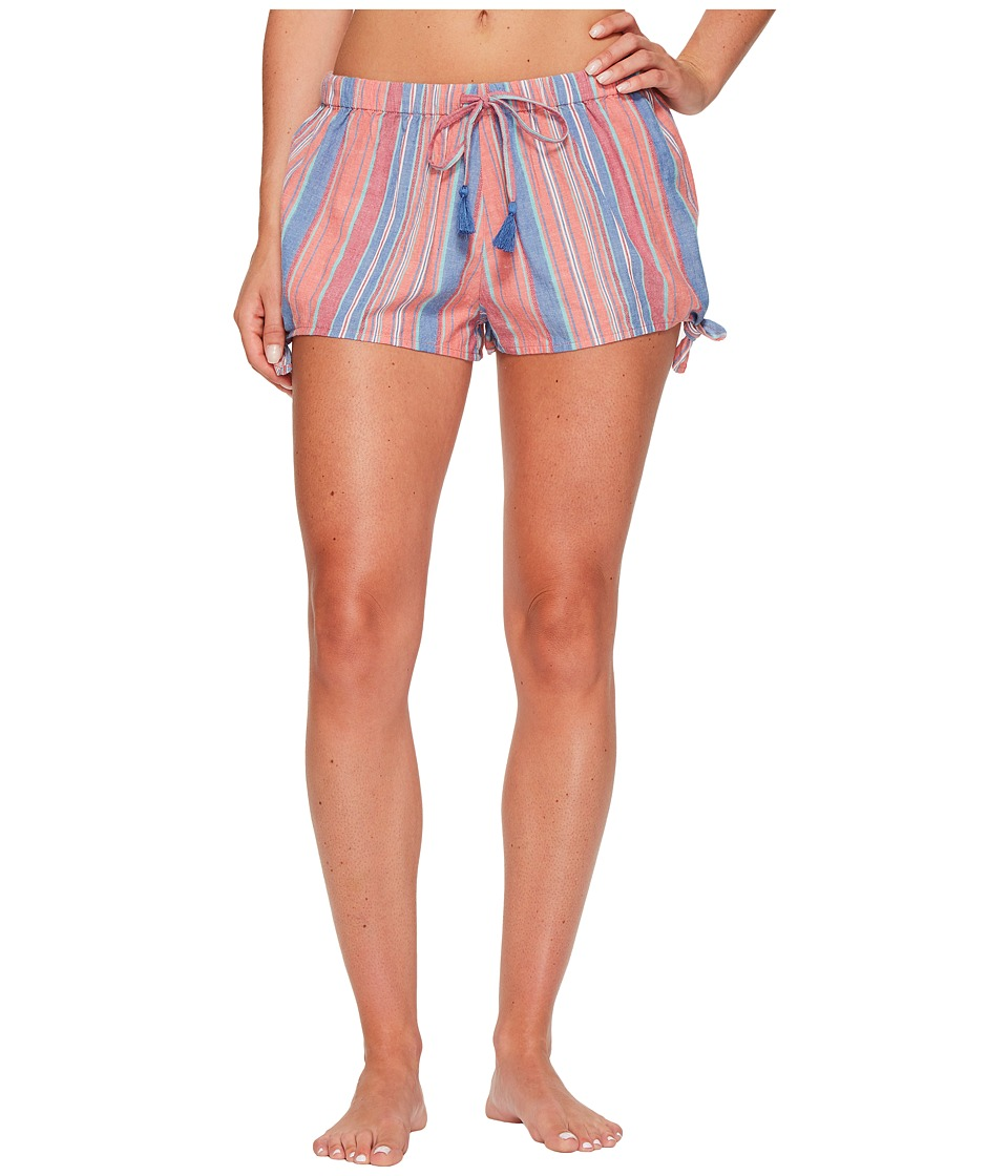 Lucky Brand Tassel Tie Pajama Shorts (Auroa Multi Stripes) Women