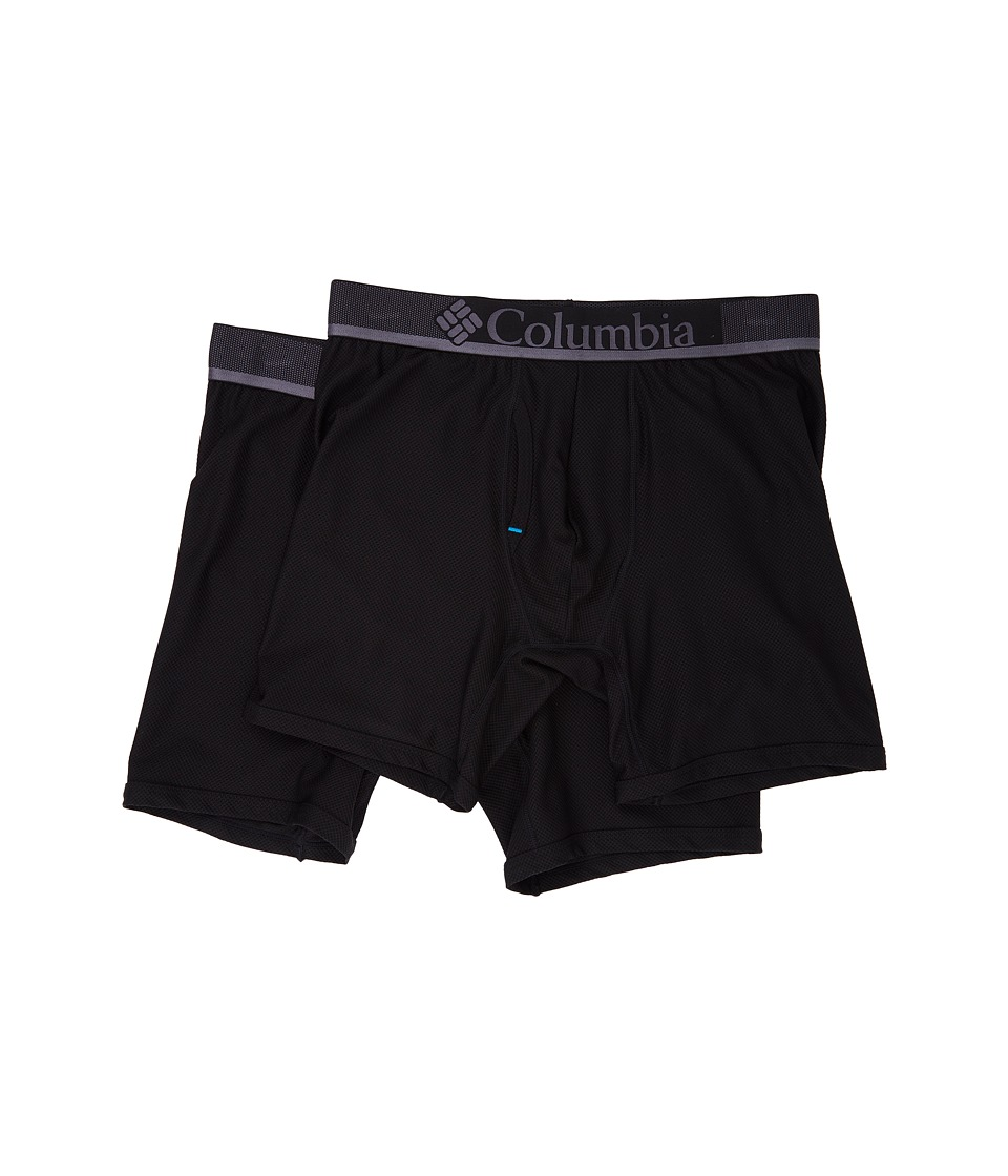 Columbia - Diamond Mesh Boxer Brief 2-Pack (Black) Men's Underwear