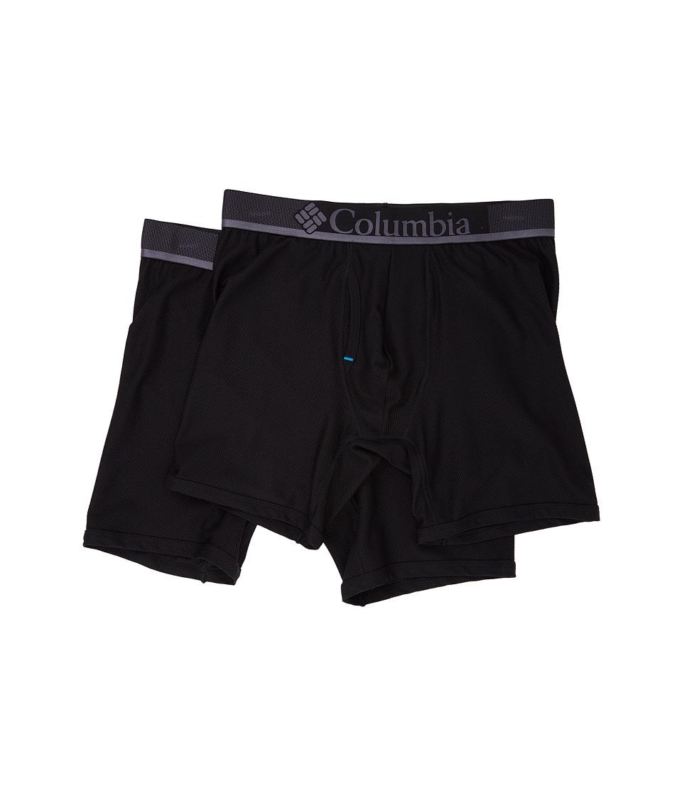 Columbia - Diamond Mesh Boxer Brief 2-Pack (Black) Men's Underwear