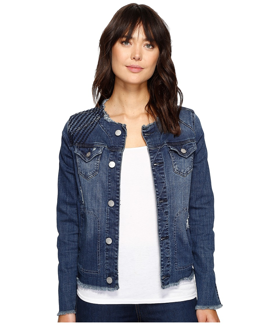 Jag Jeans - Lori Jacket in Thorne Blue Crosshatch Denim (Thorne Blue) Women's Coat
