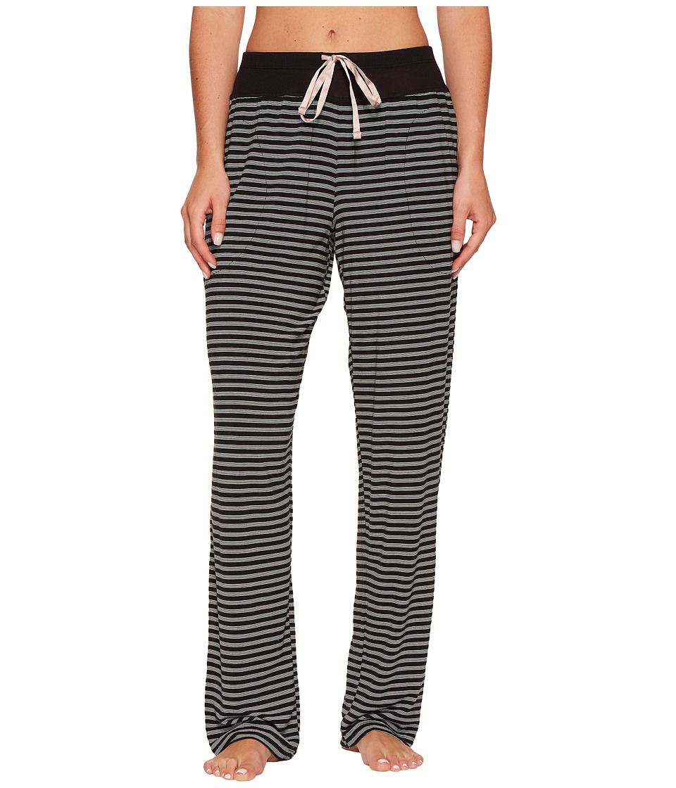 DKNY - Striped Long Pants (Black Yarn/Dye Stripe) Women's Pajama