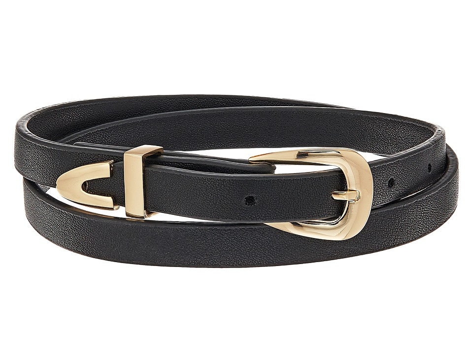 Steve Madden - Leather Wrap Around Choker Necklace (Gold) Necklace