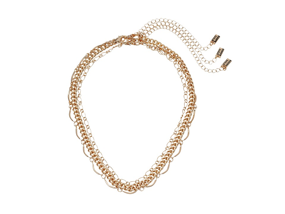Steve Madden - 3 Piece Chain Choker Necklace Set (Gold) Necklace
