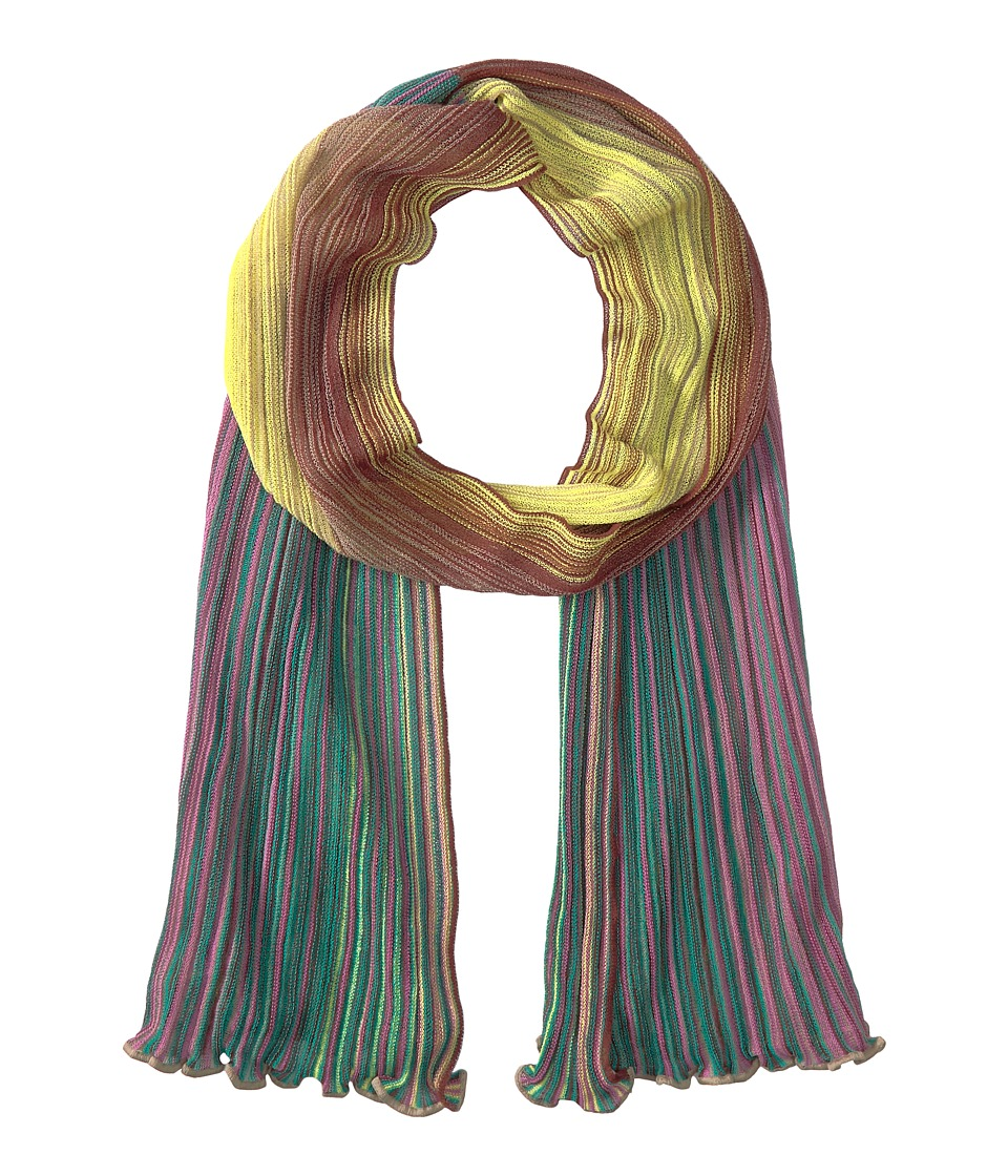 M Missoni - Multicolor Plisse Scarf (Brown) Scarves