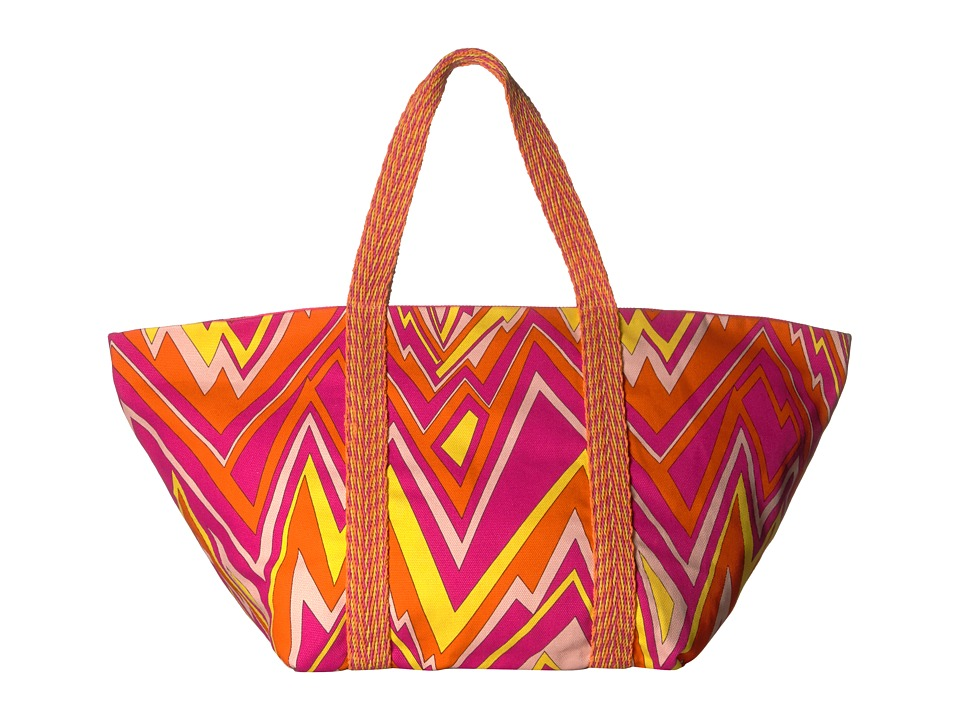 M Missoni - Zigzag Canvas Beach Bag (Pink) Bags