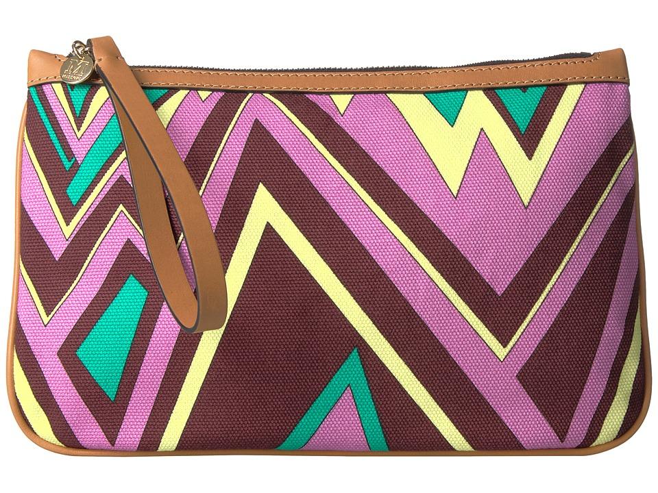 M Missoni - Zigzag Canvas Pouch (Brown) Handbags