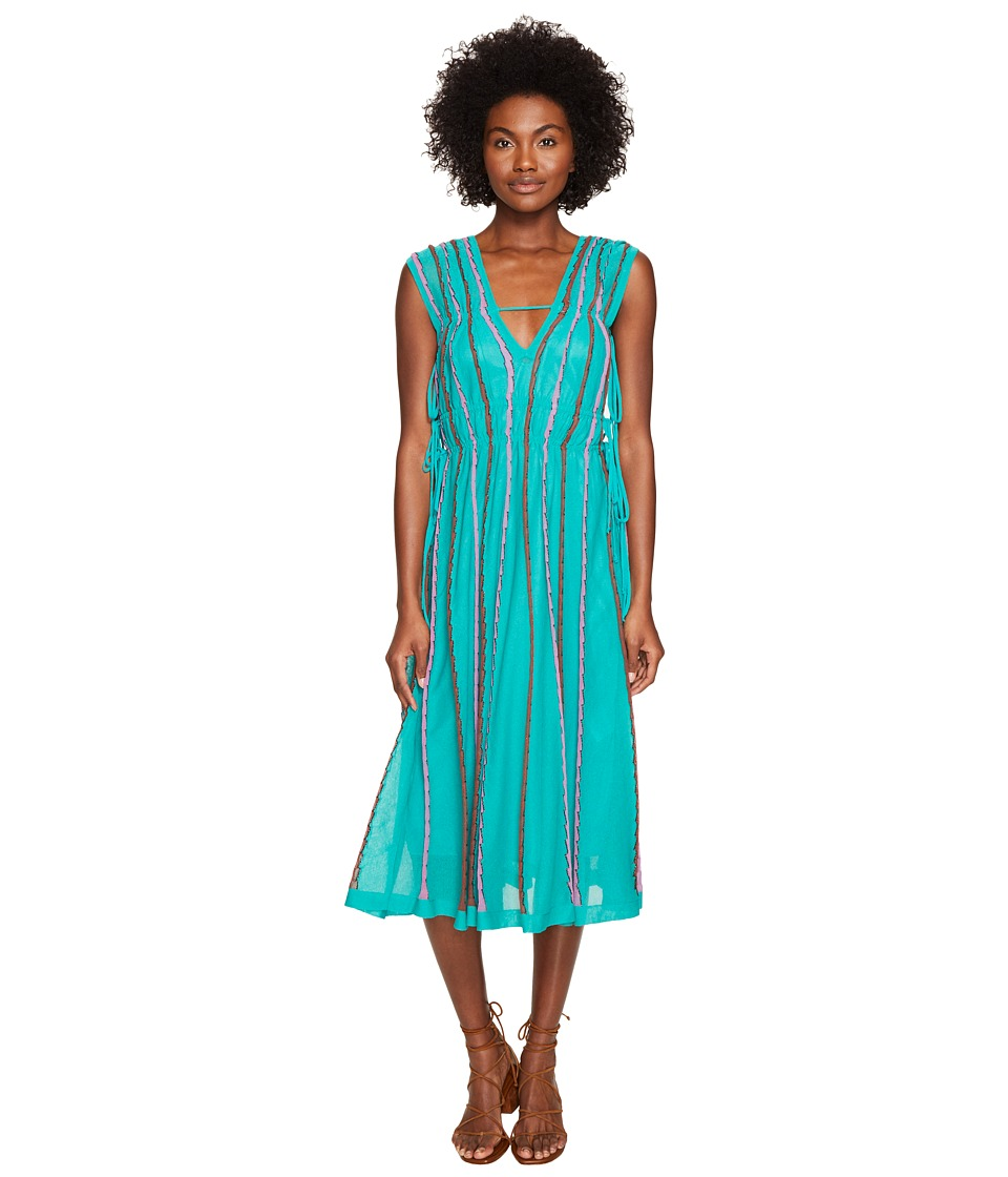 M Missoni Vertical Triangle Knit Dress (Turquoise) Women