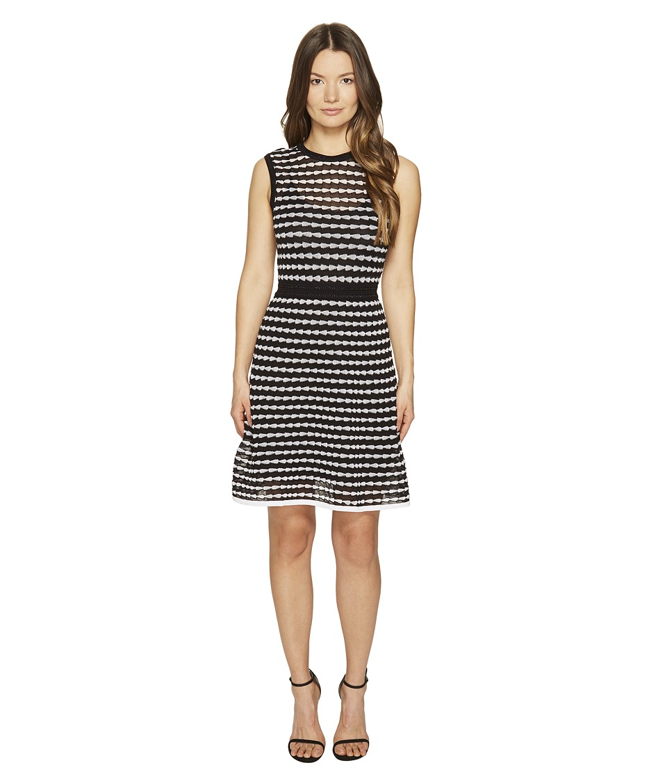 M Missoni - Horizontal Triangle Knit Sleeveless Dress (Black) Women's Dress