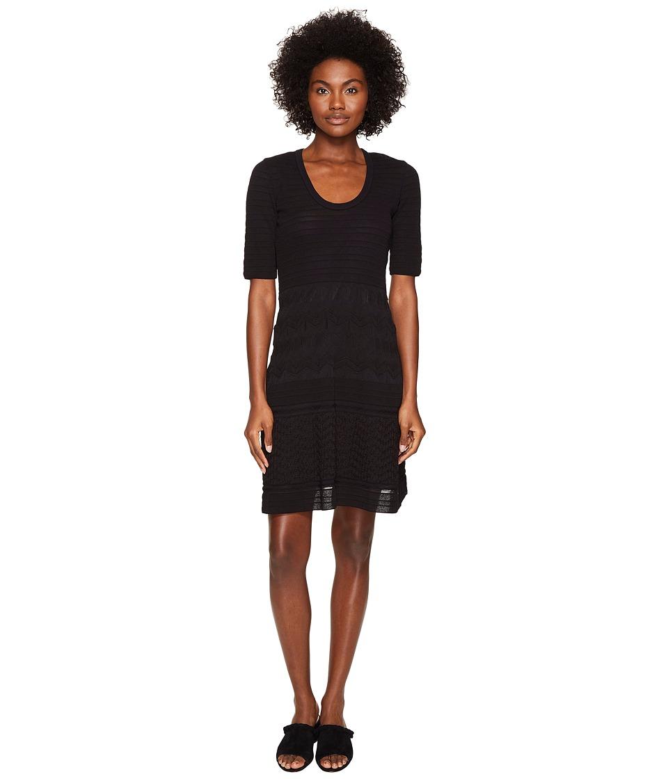 M Missoni Solid Rib Stitch Dress (Black 1) Women