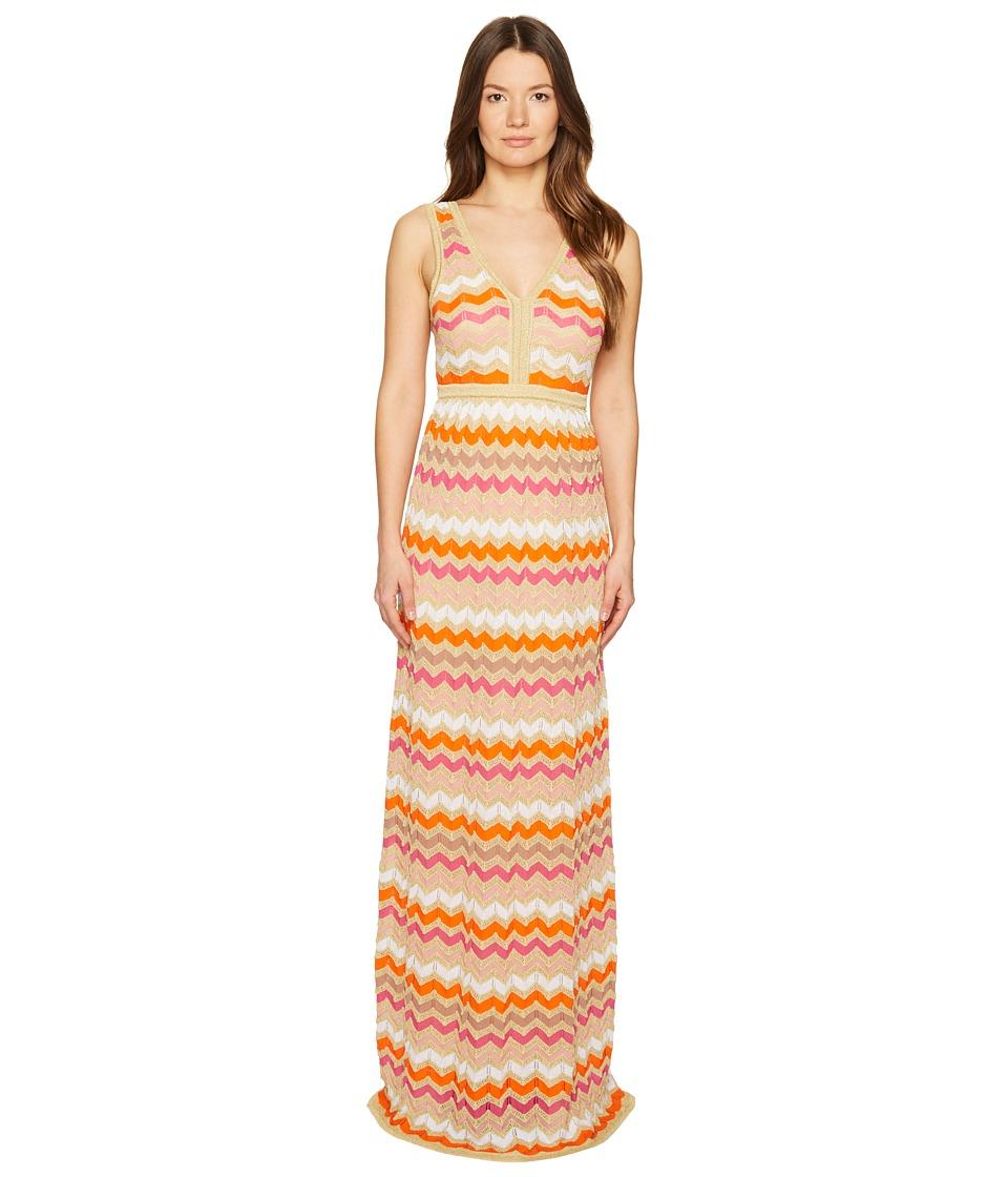 M Missoni Ombre Zigzag Maxi Dress (White) Women
