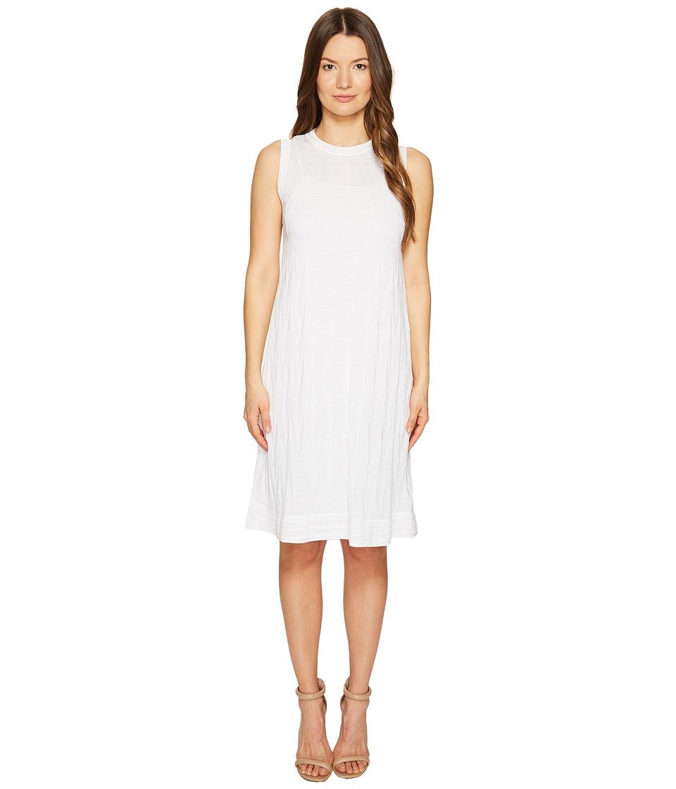 M Missoni Solid Knit Sleeveless Dress (White) Women