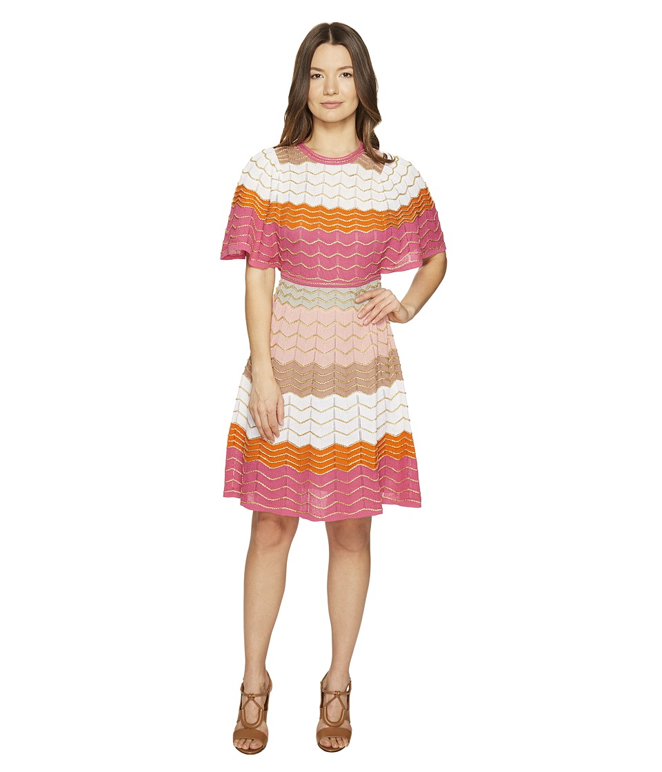 M Missoni Color Block Zigzag Dress