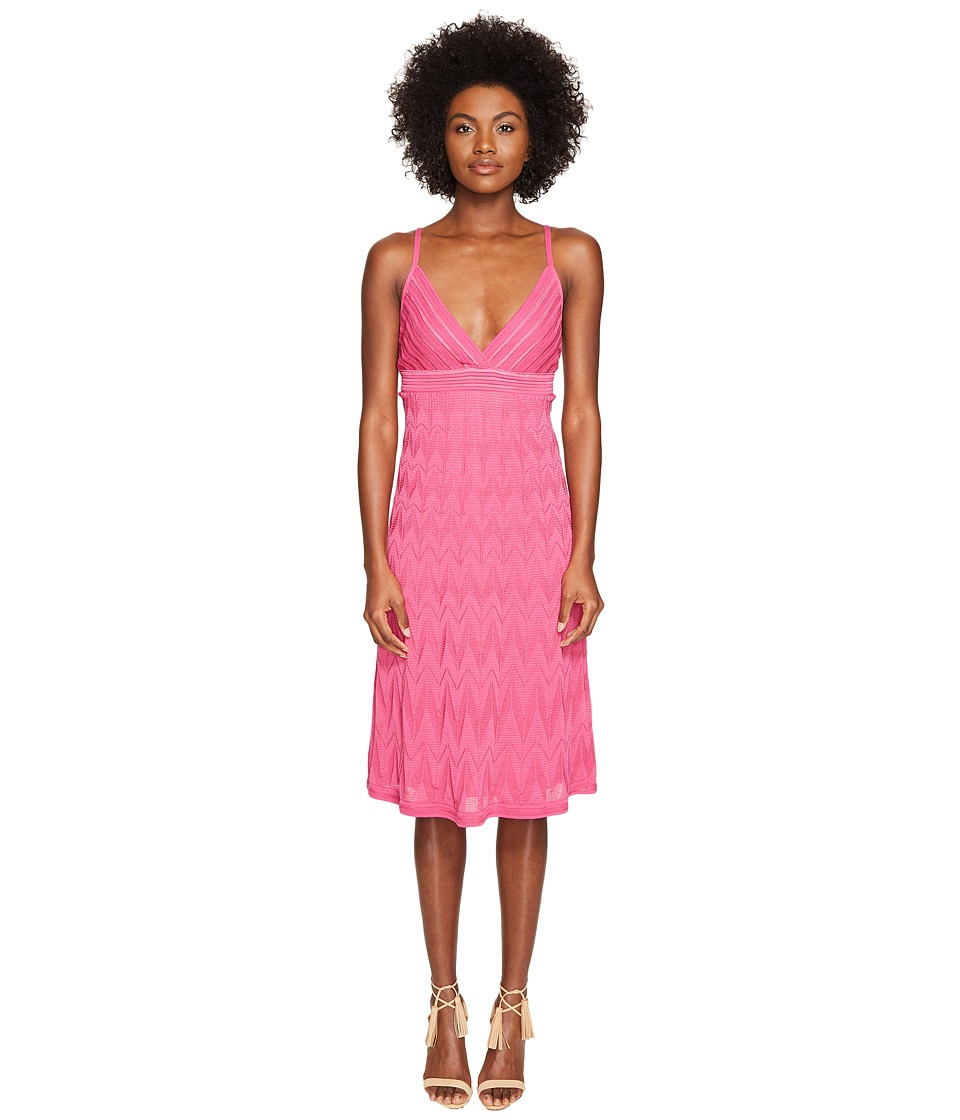 M Missoni - Solid Knit Skinny Strap Dress (Pink) Women's Dress