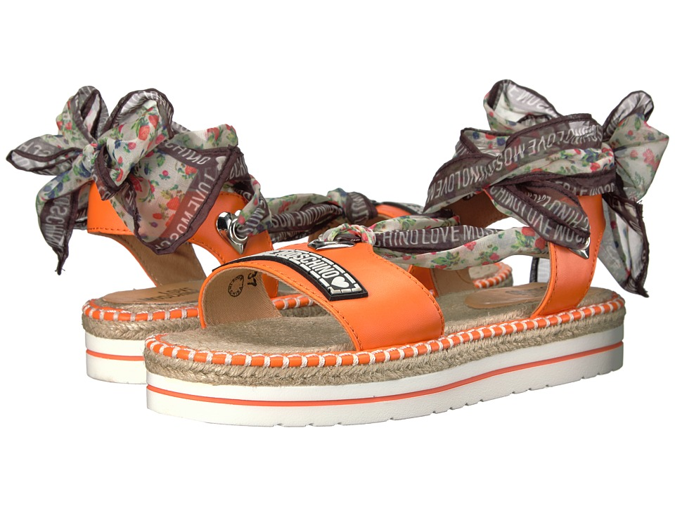 LOVE Moschino Scarf Sandal (Orange) Women
