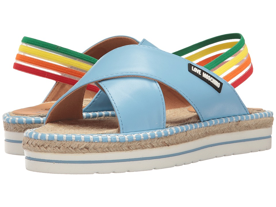 LOVE Moschino - Rainbow Strap Sandal (Blue) Women's Sandals