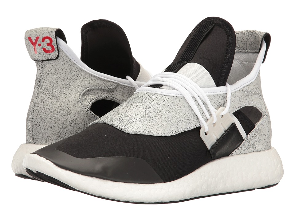 adidas Y-3 by Yohji Yamamoto - Y-3 Elle Run (Ftw White/Core Black/Flame Scarlet) Women's Running Shoes