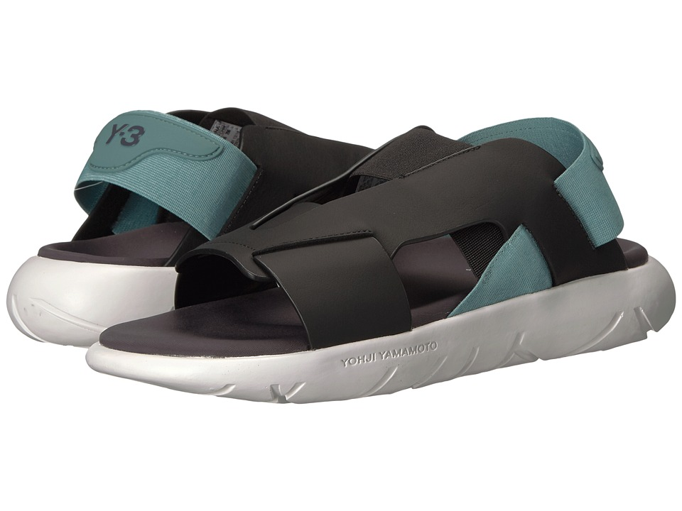 adidas Y-3 by Yohji Yamamoto - Y-3 Qasa Elle Stretch Sandal (Utility Black/Vapour Steel/Crystal White) Women's Sandals