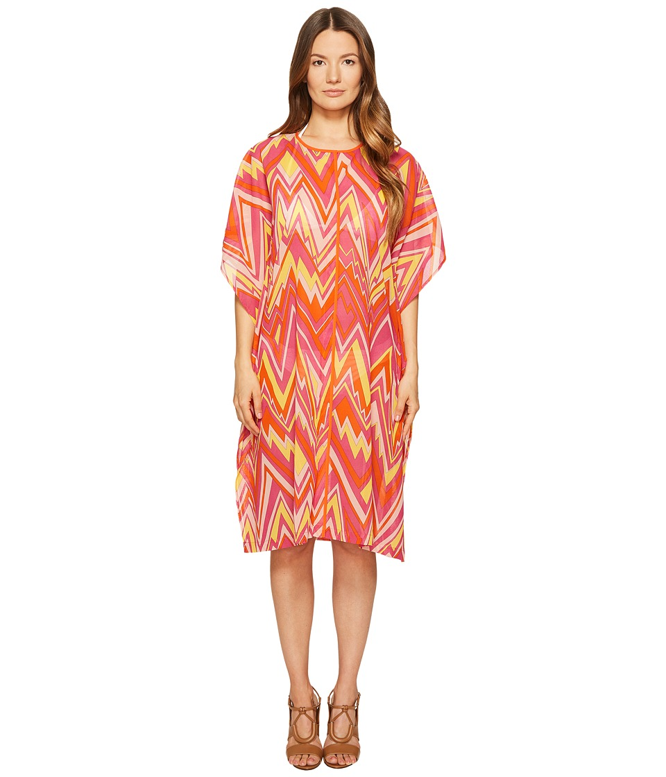 M Missoni - Retro Zigzag Cotton Voile Cover-Up (Pink) Women's Swimwear