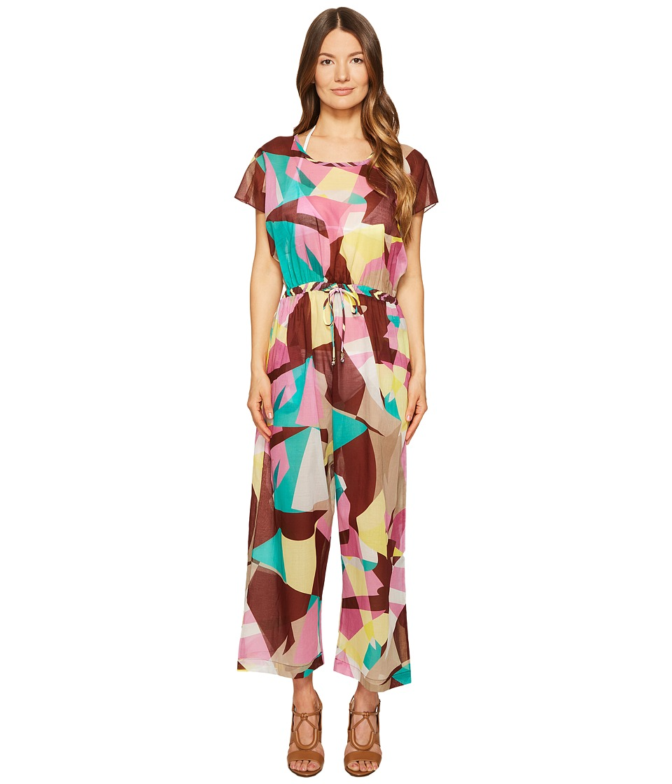 M Missoni - Abstract Print Cotton Voile Jumpsuit (Lavender) Women's Jumpsuit & Rompers One Piece