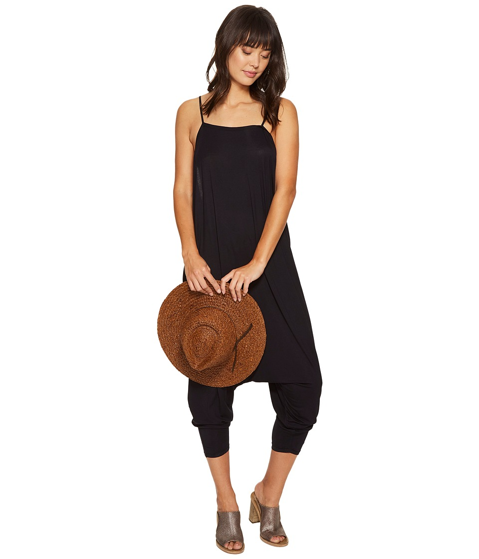 Free People - Right On Time Romper (Black) Women's Jumpsuit & Rompers One Piece