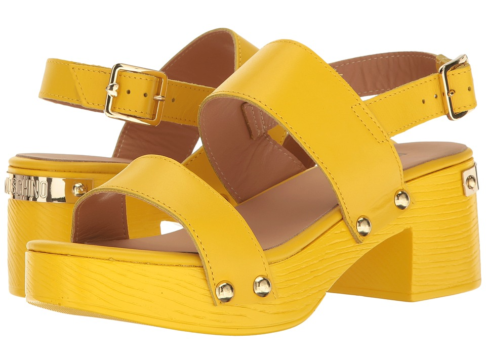 LOVE Moschino - Chunky Wooden Sandal (Yellow) Women's Dress Sandals
