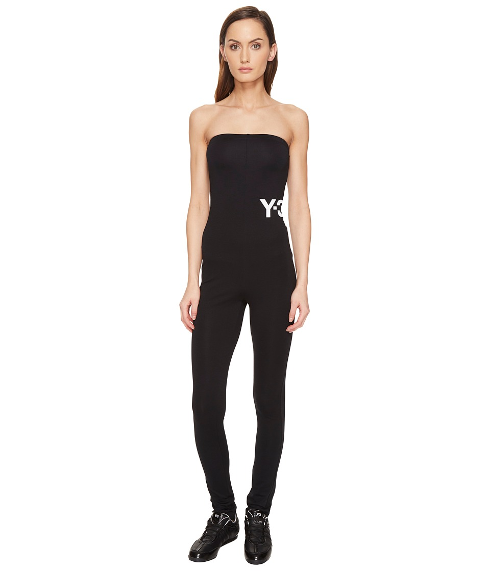 adidas Y-3 by Yohji Yamamoto - Lux Jumpsuit (Black) Women's Jumpsuit & Rompers One Piece