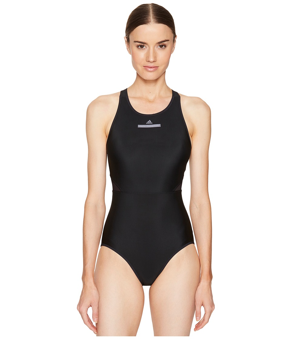 adidas by Stella McCartney - Performance Zip Swimsuit BS1150 (Black) Women's Swimsuits One Piece