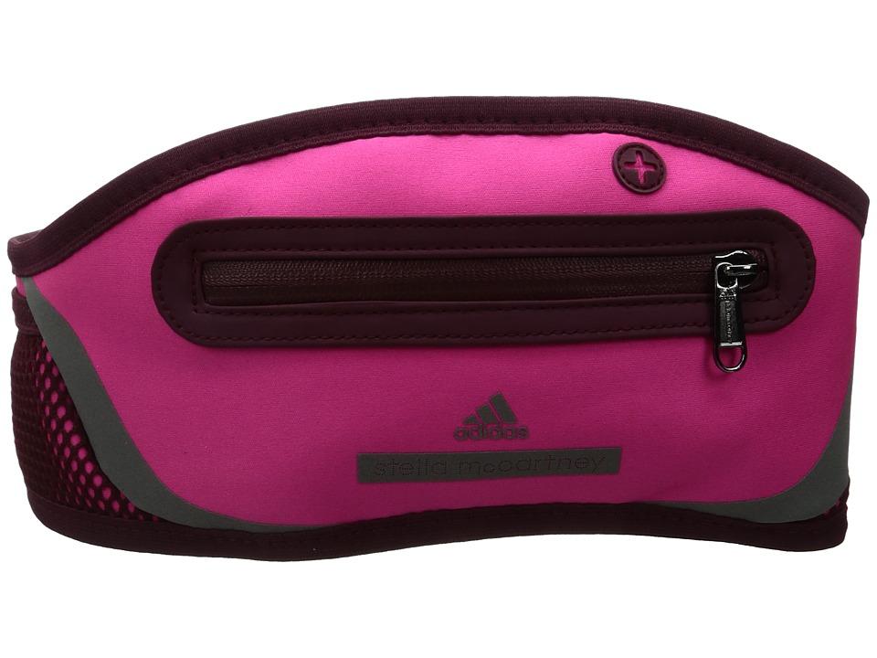 adidas by Stella McCartney - Run Belt (Shock Pink/Cherry Wood/Gunmetal) Bags