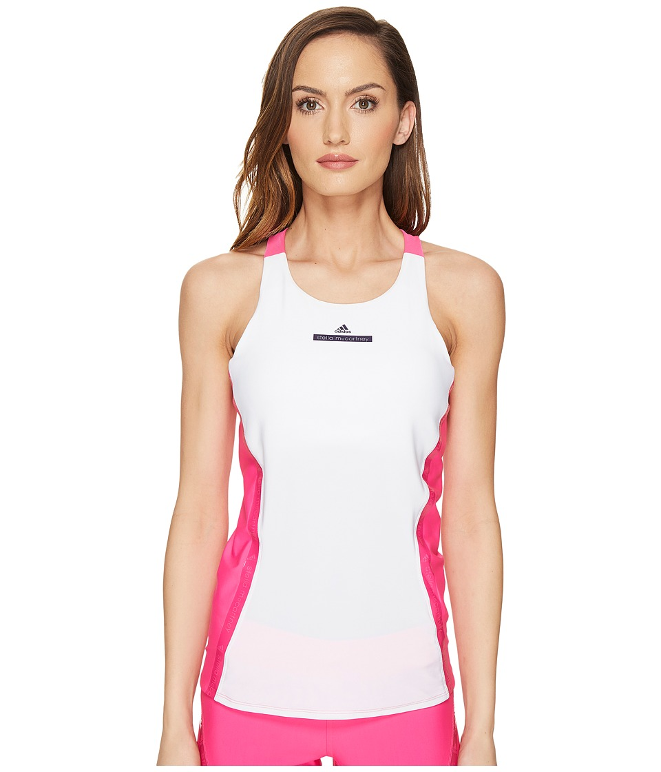 adidas by Stella McCartney - Run Tank S99209 (White/Shock Pink) Women's Sleeveless