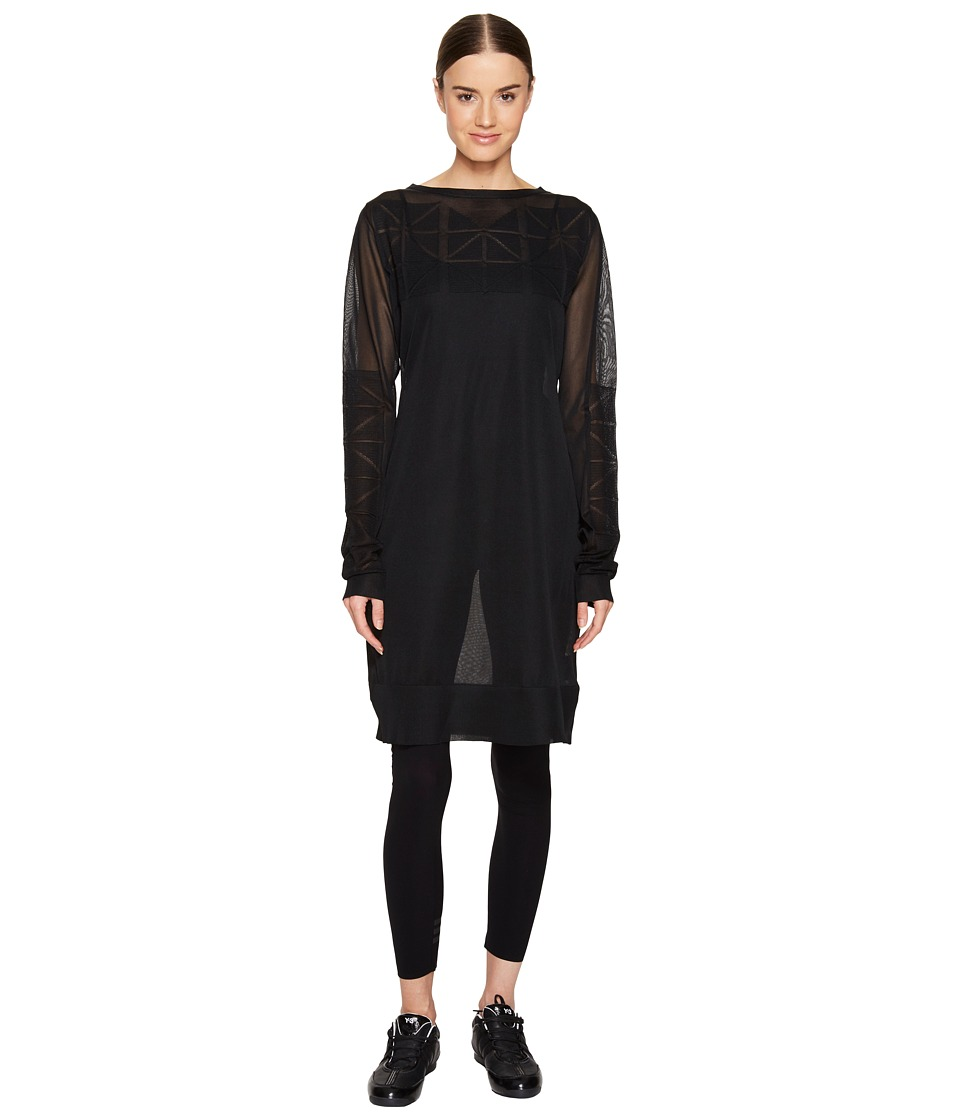 adidas Y-3 by Yohji Yamamoto - Knit Long Sleeve Top (Black) Women's Clothing