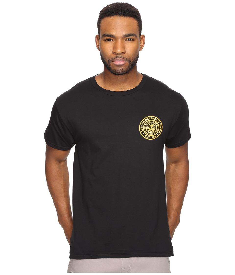 Obey - Obey Propaganda Company (Black/Gold) Men's T Shirt