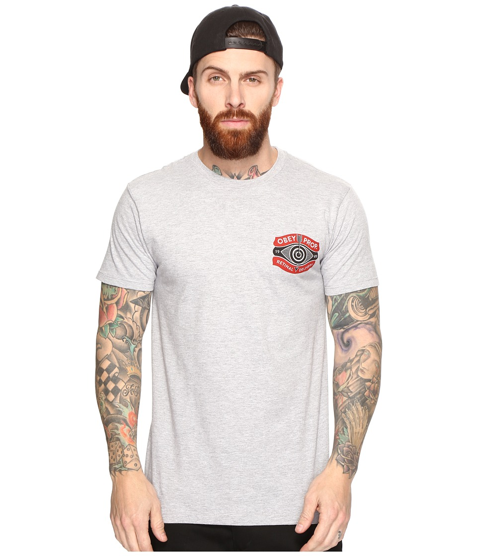 Obey - Retinal Delivery Tee (Heather Grey) Men's T Shirt