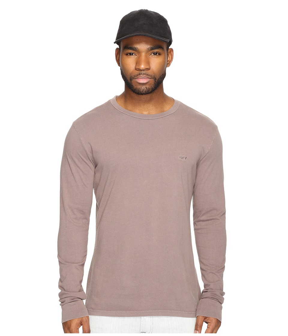 Obey - Jumble Long Sleeve Pigment Tee (Iron) Men's T Shirt