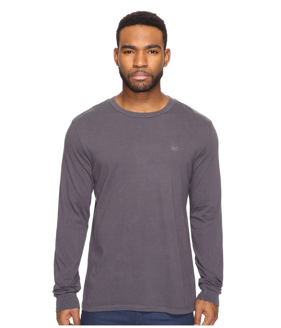 Obey - Jumble Long Sleeve Pigment Tee (Black) Men's T Shirt