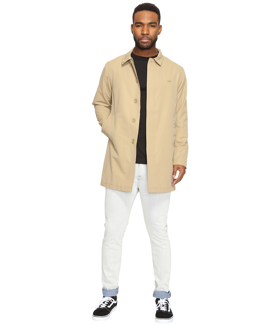 Obey - Nightlines Trench Coat (Khaki) Men's Coat