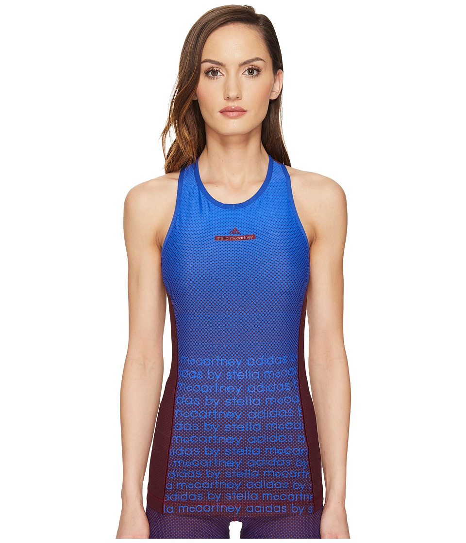 adidas by Stella McCartney - Training High Intensity Climacool Tank Top BP8850 (Cherry Wood/Bold Blue) Women's Sleeveless